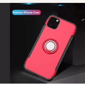 iPhone 11 slim rubber silicone ring holder case